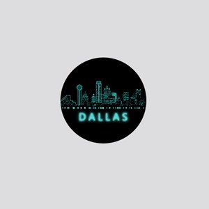 Digital Cityscape: Dallas, Texas Mini Button