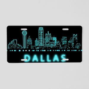 Digital Cityscape: Dallas, Aluminum License Plate