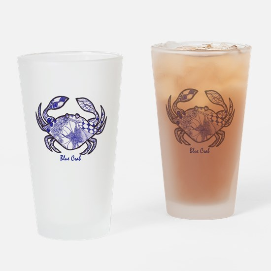 Blue Crab Drinking Glass