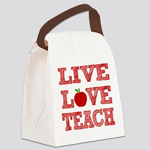 Live, Love, Teach Canvas Lunch Bag