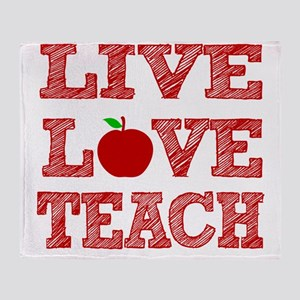 Live, Love, Teach Throw Blanket