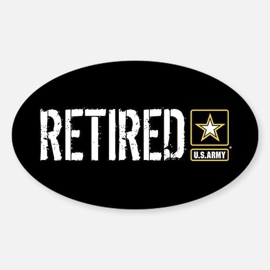 U.S. Army: Retired (Black) Sticker (Oval)