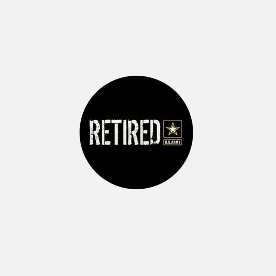 U.S. Army: Retired (Black) Mini Button