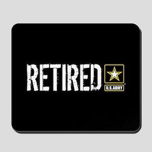 U.S. Army: Retired (Black) Mousepad