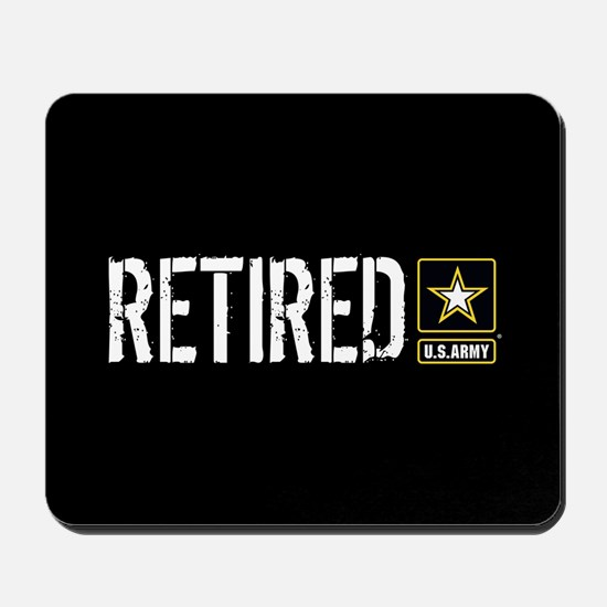 U.S. Army: Retired (Black) Mousepad