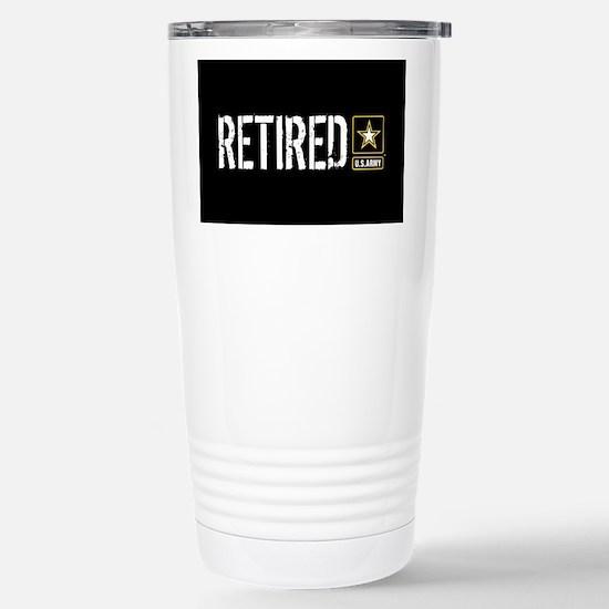 U.S. Army: Retired (Bla Stainless Steel Travel Mug