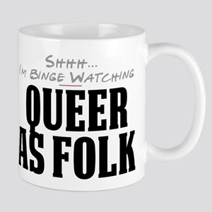 Shhh... I'm Binge Watching Queer as Folk Mug