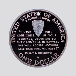 World War II Dollar Ornament (Round)