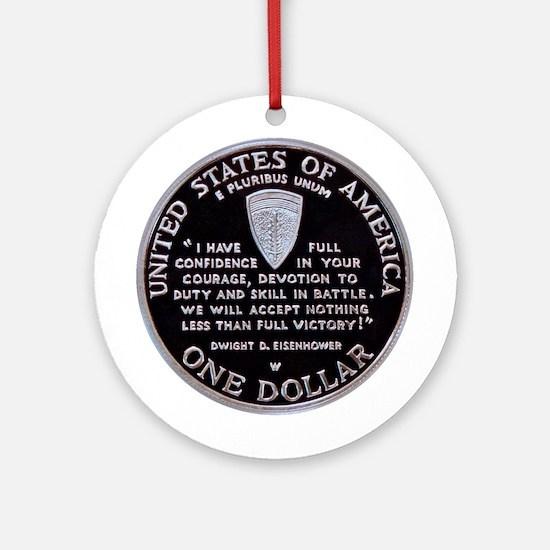 World War II Dollar Ornament (Round)