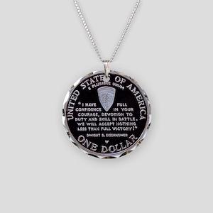 World War II Dollar Necklace Circle Charm