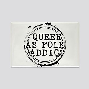 Queer as Folk Addict Stamp Rectangle Magnet