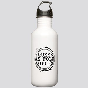 Queer as Folk Addict Stamp Stainless Water Bottle