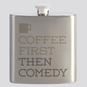 Coffee Then Comedy Flask