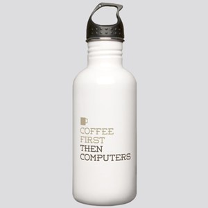 Coffee Then Computers Stainless Water Bottle 1.0L