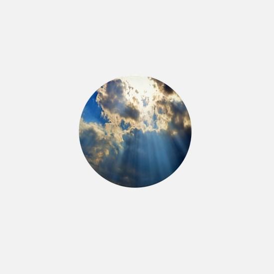 Blue Skies Mini Button