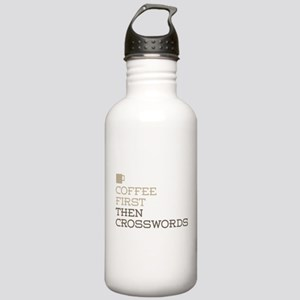 Coffee Then Crosswords Stainless Water Bottle 1.0L