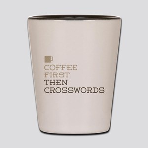 Coffee Then Crosswords Shot Glass