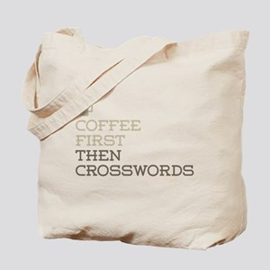 Coffee Then Crosswords Tote Bag