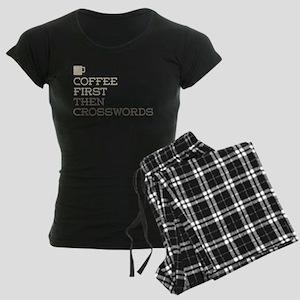Coffee Then Crosswords Women's Dark Pajamas