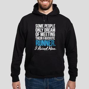 I Raised My Runner Hoodie (dark)