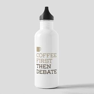 Coffee Then Debate Stainless Water Bottle 1.0L