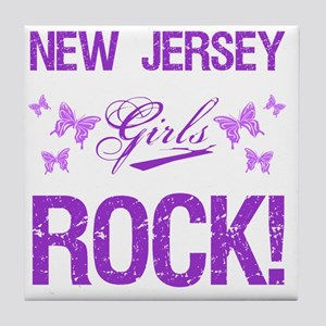 New Jersey Girls Rock Tile Coaster
