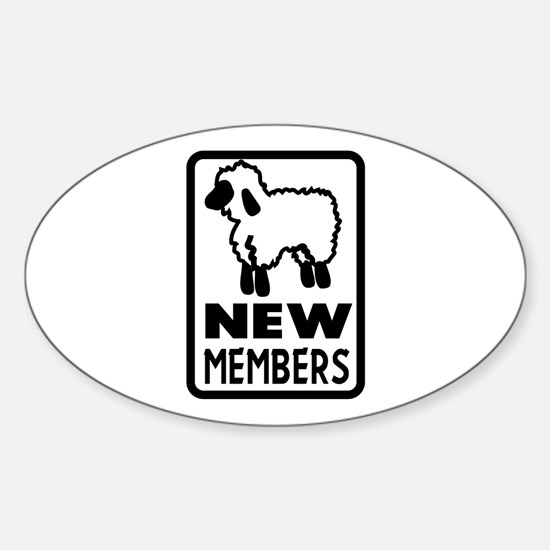 New Members Oval Decal