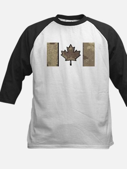 Canadian Flag Tan Digital Cam Dese Baseball Jersey