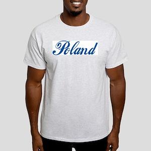 Poland (cursive) Light T-Shirt