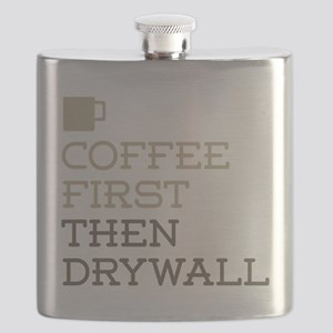 Coffee Then Drywall Flask