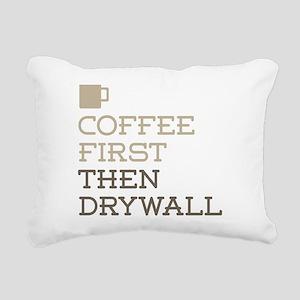 Coffee Then Drywall Rectangular Canvas Pillow