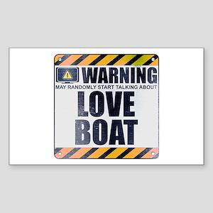Warning: Love Boat Rectangle Sticker