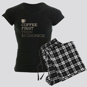 Coffee Then Economics Women's Dark Pajamas