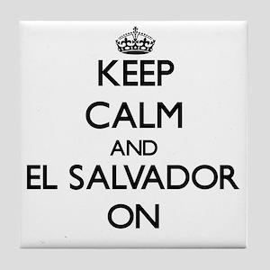 Keep calm and El Salvador ON Tile Coaster