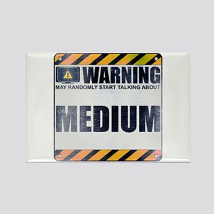 Warning: Medium Rectangle Magnet