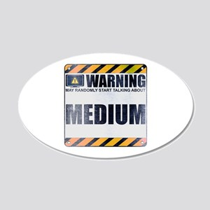 Warning: Medium 22x14 Oval Wall Peel