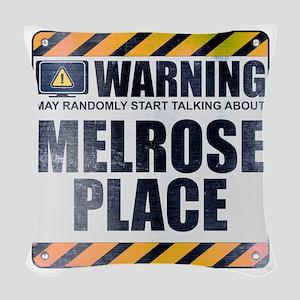 Warning: Melrose Place Woven Throw Pillow