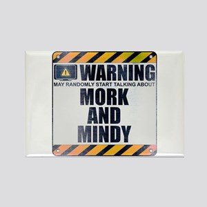 Warning: Mork and Mindy Rectangle Magnet