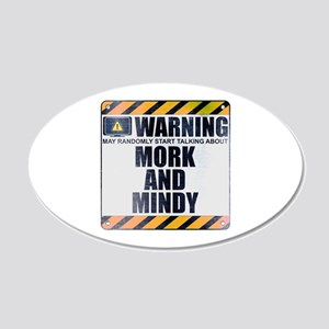 Warning: Mork and Mindy 22x14 Oval Wall Peel