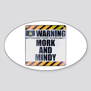 Warning: Mork and Mindy Oval Sticker