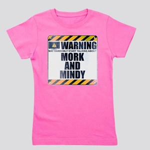 Warning: Mork and Mindy Girl's Dark Tee