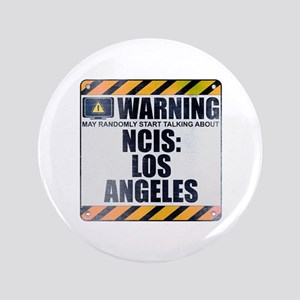 "Warning: NCIS: Los Angeles 3.5"" Button"