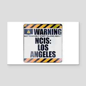 Warning: NCIS: Los Angeles Rectangle Car Magnet