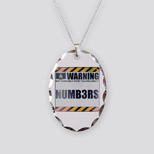 Warning: Numb3rs Necklace Oval Charm