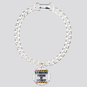 Warning: Person of Interest Charm Bracelet, One Ch
