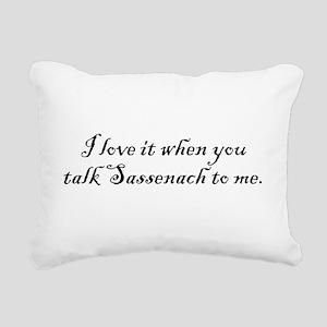TalkSass2Me Rectangular Canvas Pillow