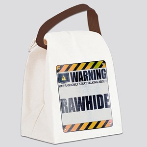Warning: Rawhide Canvas Lunch Bag