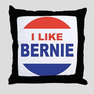 i like bernie 2016 best Throw Pillow