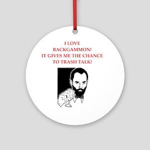 backgammon joke Round Ornament