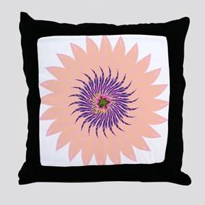 Flower peach lavendar purple hot pink Throw Pillow